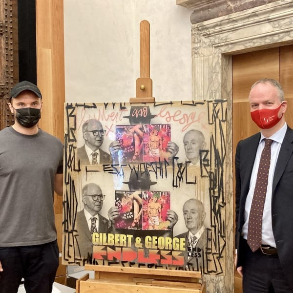 Endless becomes first street artist to feature in the Uffizi Gallery