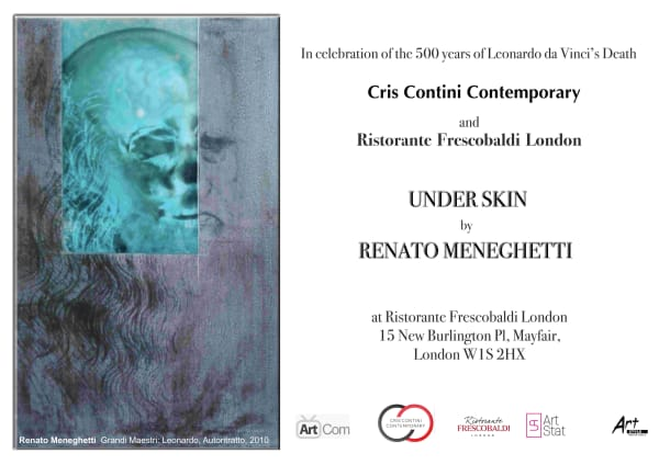 Under Skin exhibition by Renato Meneghetti at Ristorante Frescobaldi London