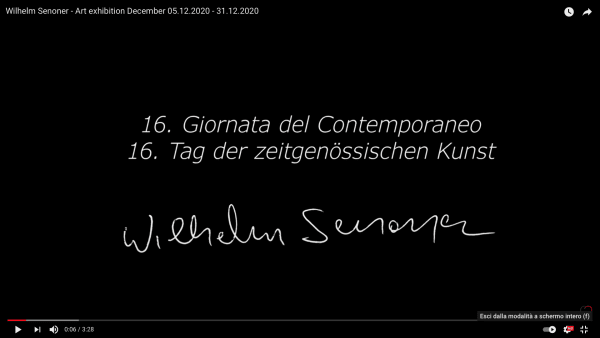 Wilhelm Senoner - Art exhibition December 05.12.2020 - 31.12.2020