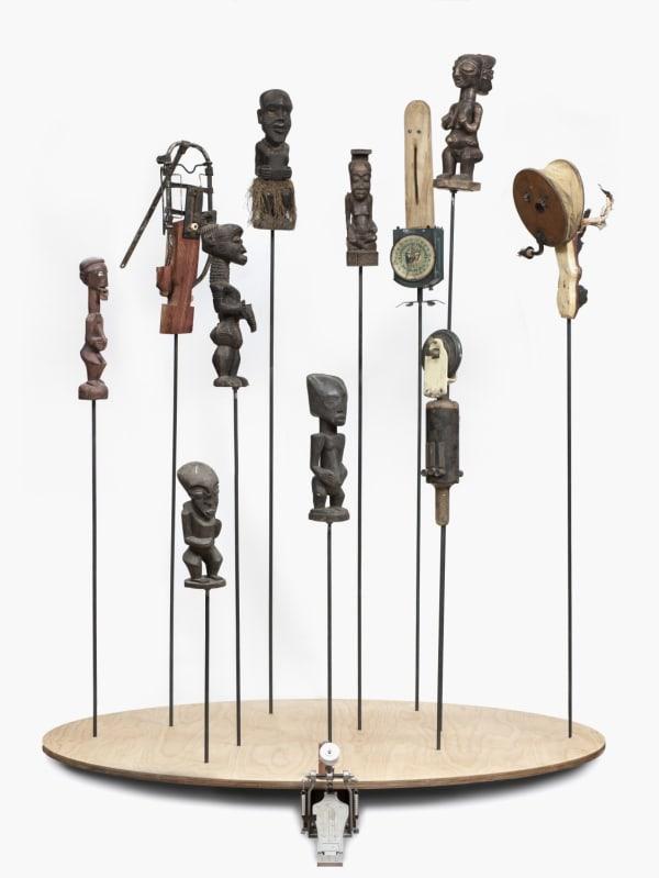 Jaco van Schalkwyk_Retroquire xiGubu, 2017, found object & mixed media mobile sculpture, 115 x 154 x 185 cm, collaboration with Allen Laing