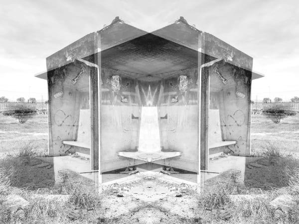 Alastair Whitton, Bus Shelter, Bonteheuwel, 2019, silver print
