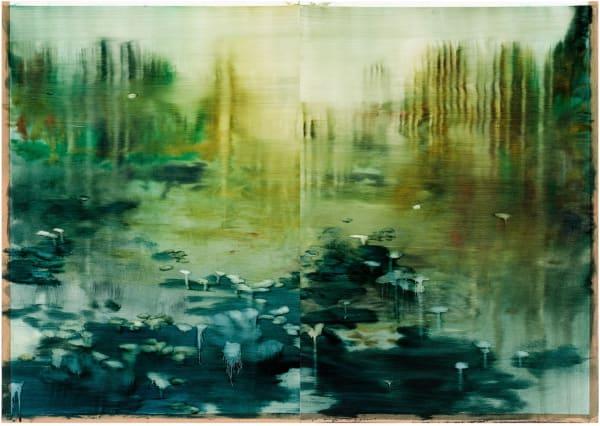 Alexia Vogel, Dordogne, 2018, oil on paper, 61,5 x 87,5 cm