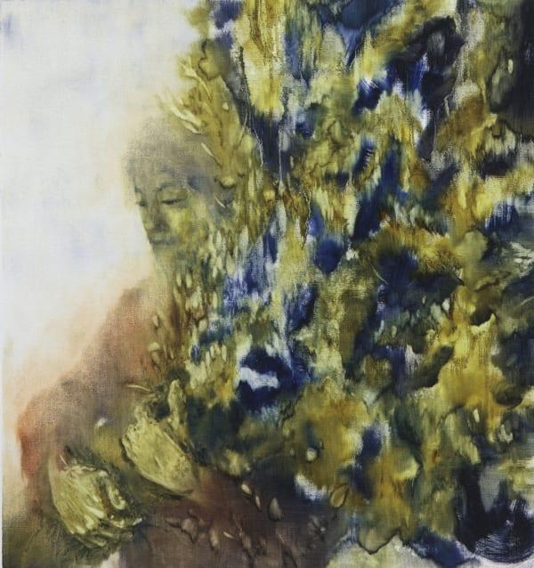 Sarah Biggs, Dirge, 2017, oil on linen, 87 x 83 cm