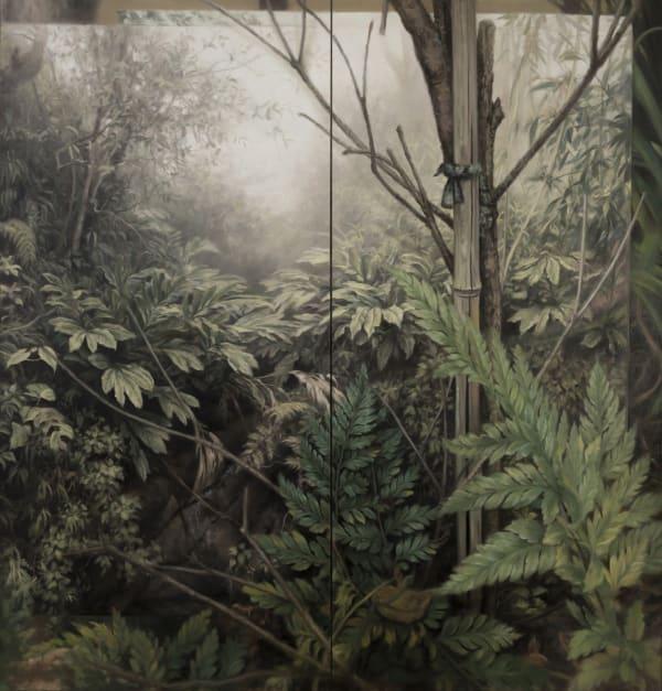 Jaco van Schalkwyk, Pteridomania, 2017, oil on Canvas, 210 x 200 cm