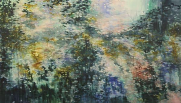 Alexia Vogel, River Run II, 2017, oil on canvas, 170 x 300 cm