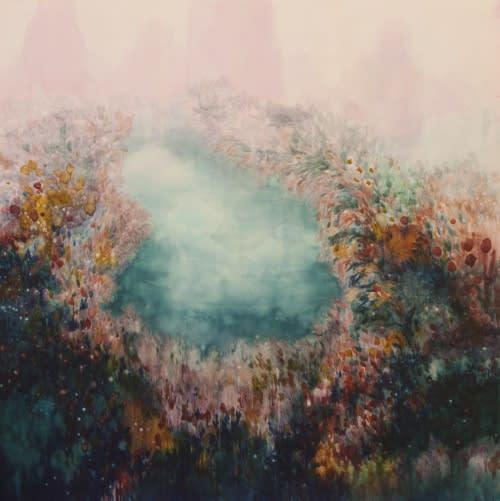 Alexia Vogel, Pool II, 2017, oil on canvas, 200 x 200cm