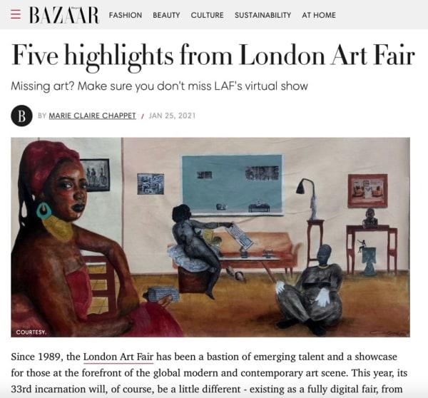 Katharine Le Hardy, London Art Fair 2021 highlights