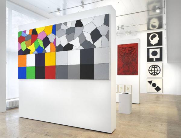 Installation view: Matt Mullican, Five Walls, Capitain Petzel, Berlin, 2021, Ph: Jens Ziehe