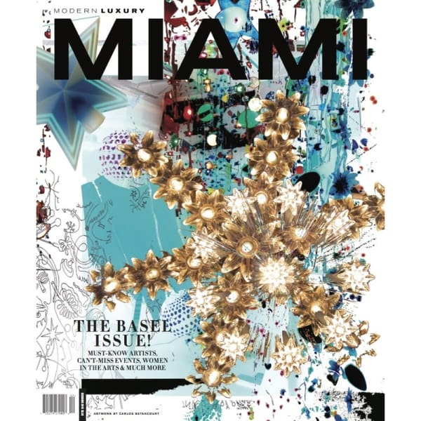 Miami Modern Magazine selects Carlos Betancourt artwork for this year's Art Basel Edition