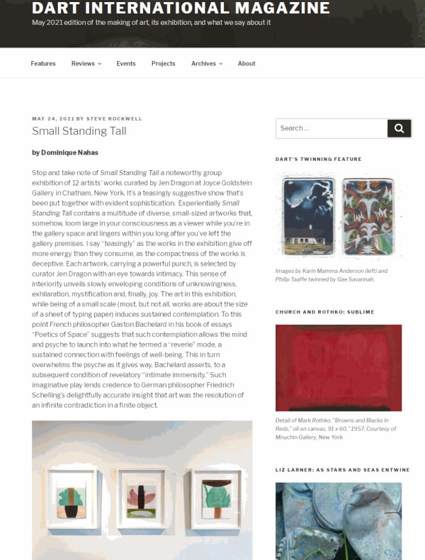 Small Standing Tall: Small Art by Big Artists at the Joyce Goldstein Gallery