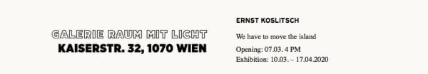 text raum mit licht, opening hours, text, maps, discription