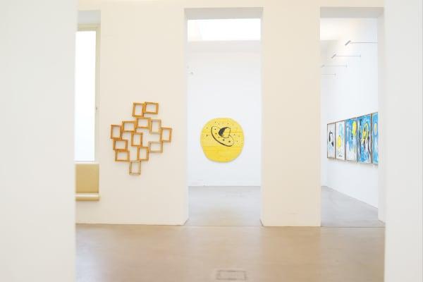 ernst koslitsch at raum mit licht gallery vienna, exhibition view, viewing room, constructing mythology in contemporary art