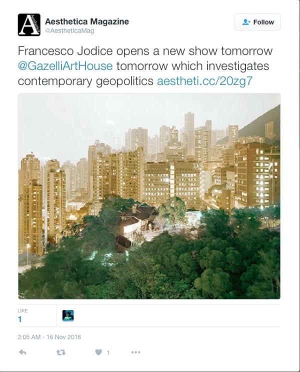 FRANCESCO JODICE   AESTHETICA   NOVEMBER 2016