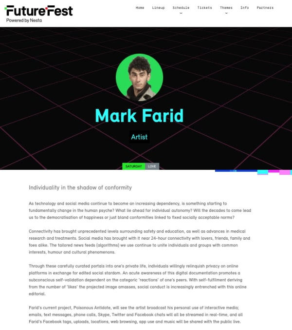 MARK FARID | FUTUREFEST | SEPTEMBER 2016