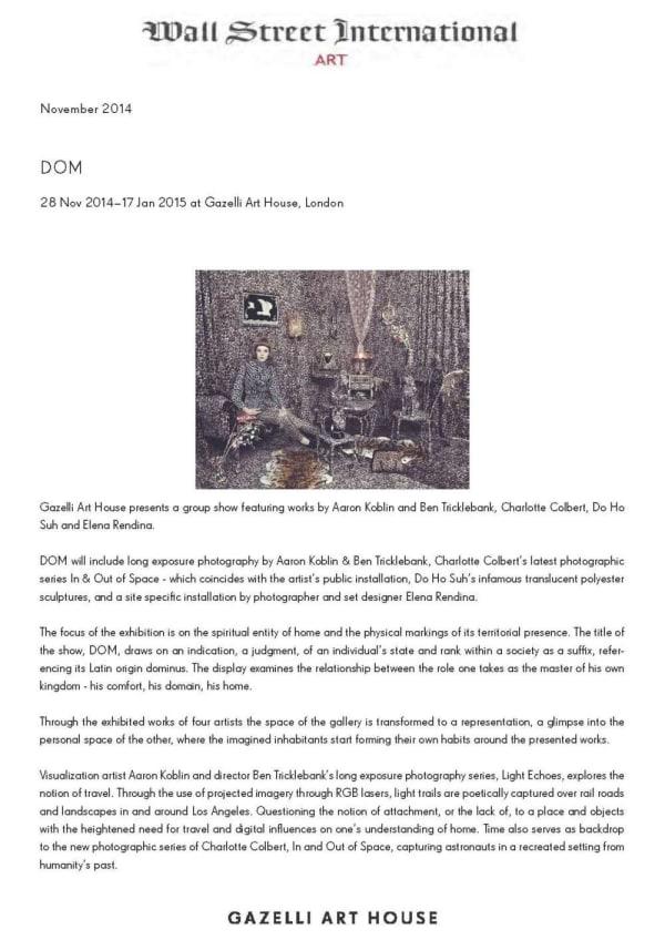 DOM | WALL STREET INTERNATIONAL | NOVEMBER 2014