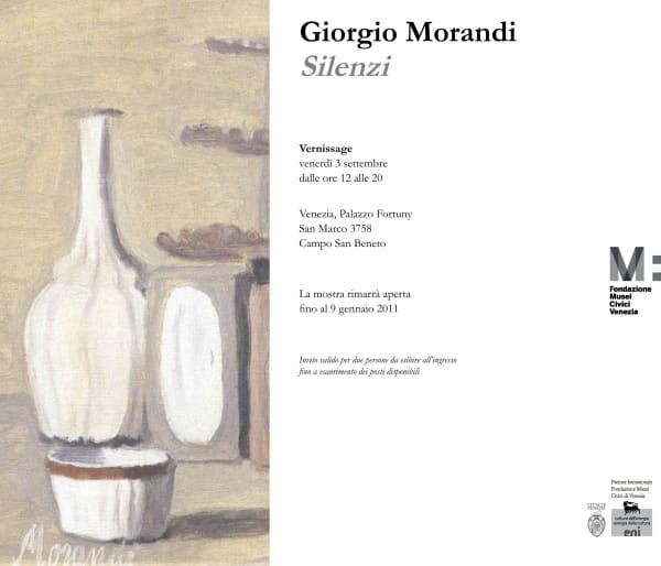 Giorgio Morandi. Silenzi | Palazzo Fortuny, Venezia