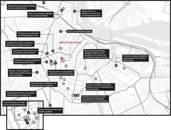 34 galeries om in het nieuwe seizoen te bezoeken (in Dutch)