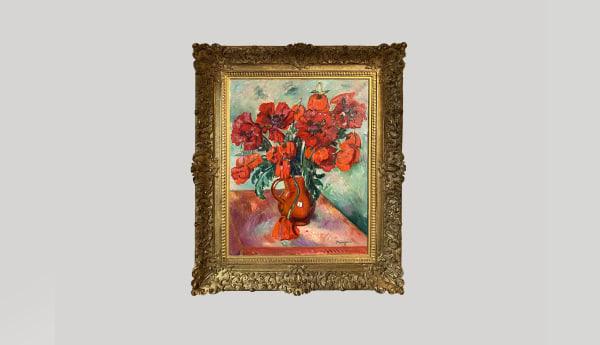 HENRI MANGUIN, Grand vase de pavots