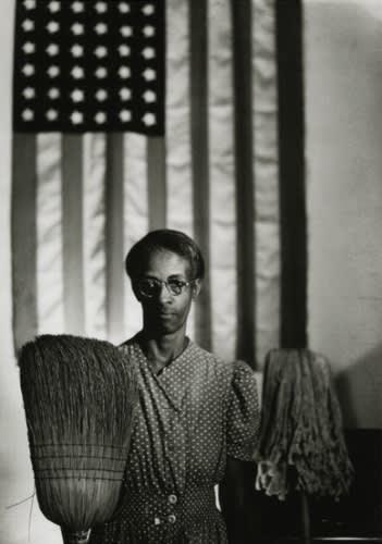 "Gordon Parks' ""American Gothic, Washington, D.C."" (1942). ©The Gordon Parks Foundation. Used with permission."