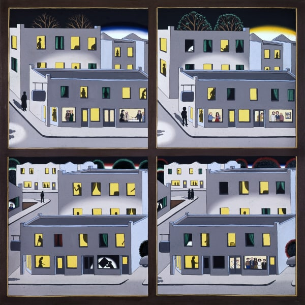 Roger Brown, The Four Seasons – A Benefit Painting of the Hyde Park Art Center, 1974 © The School of the Art Institute of Chicago and the Brown Family. Private collection, Courtesy McCormick Gallery, Chicago