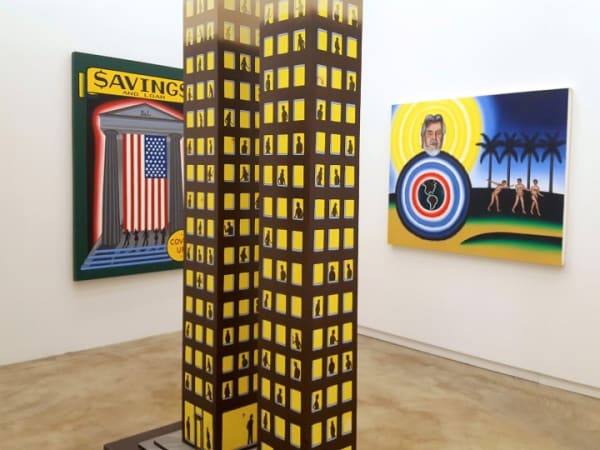 Installation view, Roger Brown: Estate Paintings at Kavi Gupta (all photos by the author for Hyperallergic)
