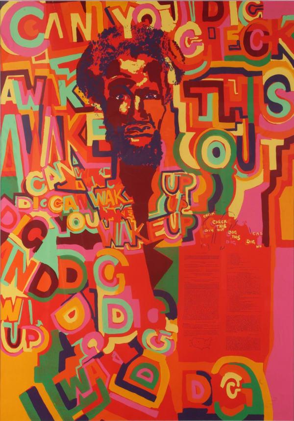 Gerald Williams, Wake Up, silkscreen (1970)