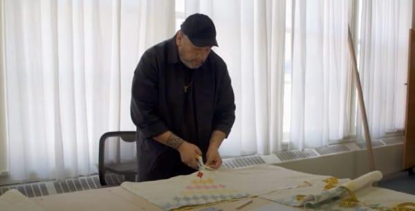 Video Still from Meet the Artist: Jeffrey Gibson   Whitney Biennial 2019 (Youtube)