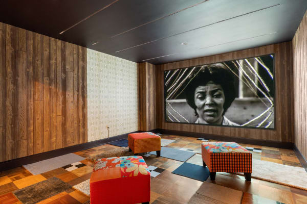 Mickalene Thomas: Better Nights, installation view at The Bass Museum of Art, Miami Beach, December 1, 2019- September 27, 2020. Image courtesy The Bass, photography by Zachary Balber