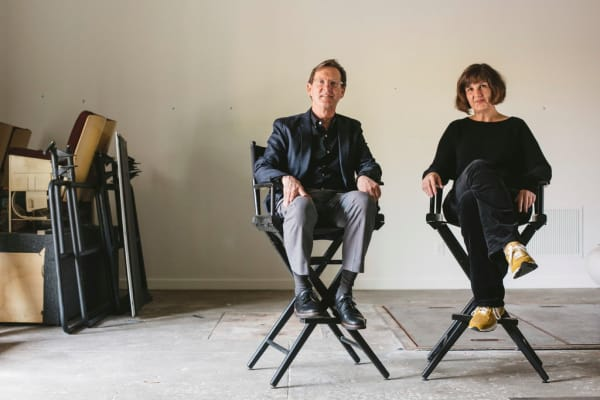 Fred Bidwell and Michelle Grabner, two of the forces behind Front International, the new Cleveland art triennial.Credit...Andrew Spear for The New York Times