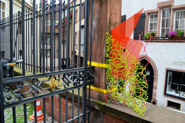 A work by Jessica Stockholder near the Müsterplatz. Photo: Andrew Russeth ARTNEWS
