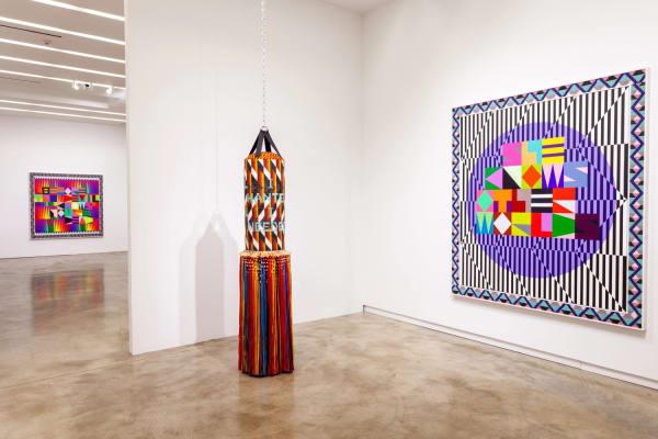"""Jeffrey Gibson: CAN YOU FEEL IT"" (installation view), 2019, Kavi Gupta | Elizabeth St. Courtesy of the Artist and Kavi Gupta /Photo: John Lusis"