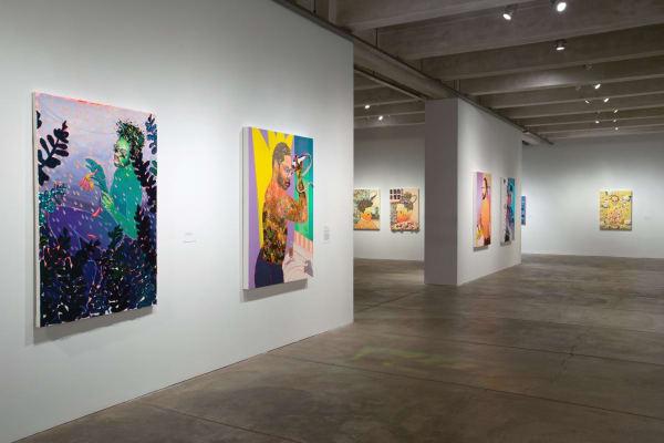 Devan Shimoyama, Cry, Baby (installation view), Andy Warhol Museum, 2018