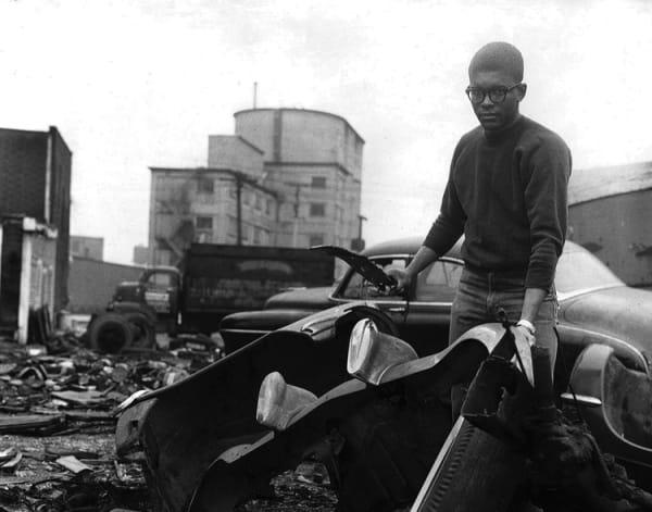 Richard Hunt in Chicago, 1962. Courtesy of Richard Hunt.