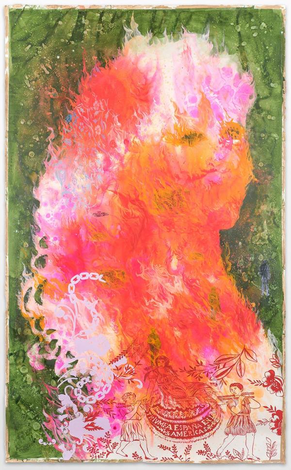 Firelei Baez, Those who would douse it, 2015. Courtesy the artist and Gallery Wendi Norris, San Francisco. Photo: STUDIO LHOOQ