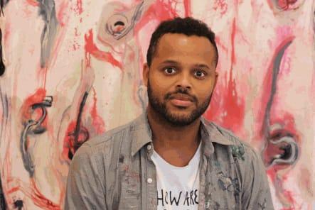 Haitian-born, Montreal-based painter Manuel Mathieu. (Image courtesy of the artist and Kavi Gupta)