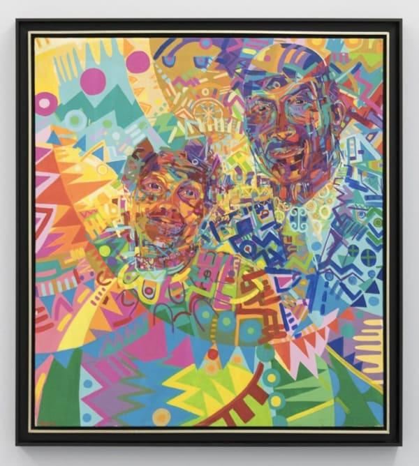 "GERALD WILLIAMS, ""My Parents,"" 1975 (acrylic on canvas). | © the artist, Courtesy Kavi Gupta"