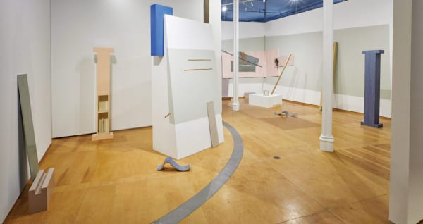 """Katie Bell, installation view of """"Abstract Cabinet,"""" 2020. Photo: Biff Henrich"""