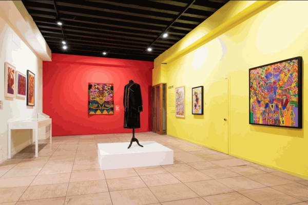 """Installation view of """"AFRICOBRA: Nation Time,"""" 2019, at Ca' Faccanon, Venice."""