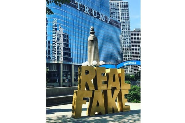 Real Fake in front of Trump Tower
