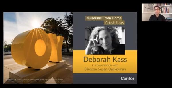 Museums From Home Artist Talks | Deborah Kass