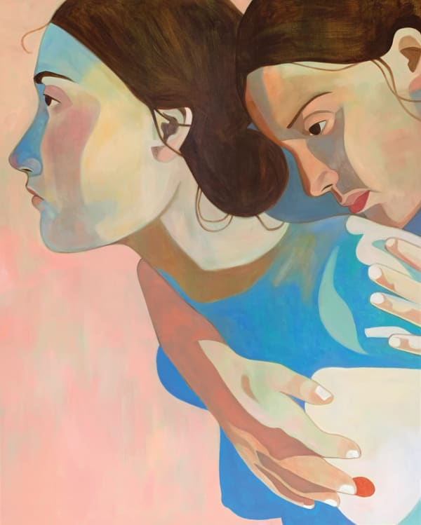 """""""I GOT YOUR BACK"""", 162X130CM, OIL ON LINEN, 2020. COURTESY OF THE ARTIST AND KETABI PROJECTS"""