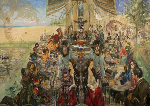 Miguel A. Machado Suárez, Diciembre (la evolutión de las especies, 2019, Oil on canvas, 200 x 280 cm