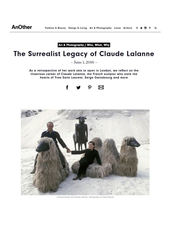 As a retrospective of her work sets to open in London, we reflect on the illustrious career of Claude Lalanne, the French sculptor who stole the hearts of Yves Saint Laurent, Serge Gainsbourg and more.