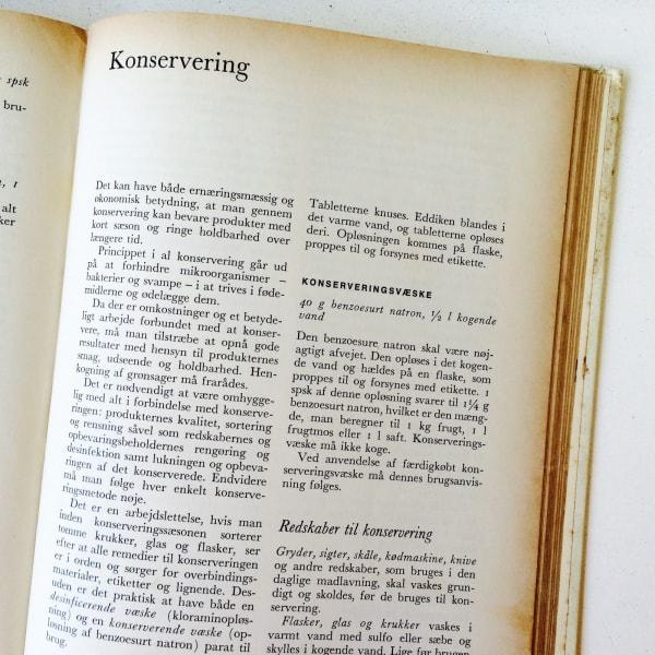 Frk Jensens Danish Cookbook for conservation of food