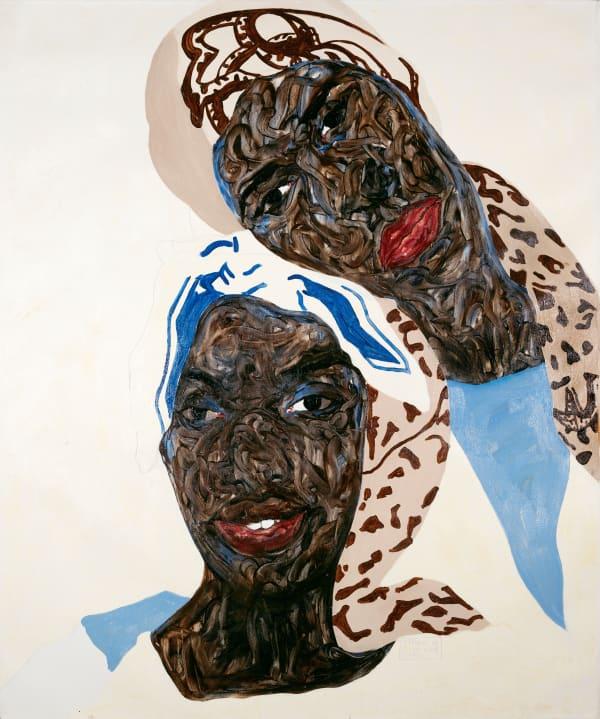 Amoako Boafo, Touching Heads, 2020. Courtesy of Mariane Ibrahim.