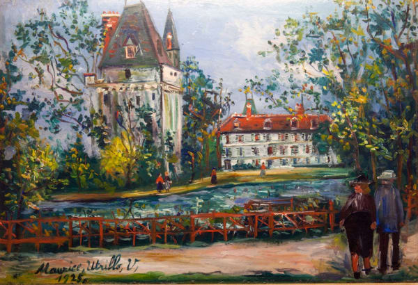 "<span class=""artist""><strong>Maurice Utrillo</strong></span>, <span class=""title""><em>Château de Saintines, Oise</em>, 1925</span>"