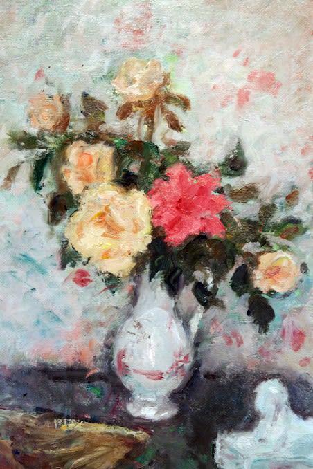 """<span class=""""artist""""><strong>Georges D'Espagnat</strong></span>, <span class=""""title""""><em>Vase des Roses, éventail et Sphinx</em></span>"""