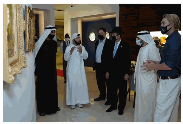 Masterpiece Art CEO Mark Maurice conducted a tour of the Gallery during the event, which was attended by Sheikh Ahmed Bin Mana Bin Khalifa Al Maktoum as well as Rabbi Abadie. Established in 2019, Masterpiece Art gallery has premises in Holland Park, London and Dubai.
