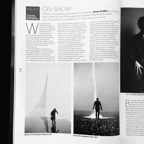 Printed feature in July issue of Black + White Magazine