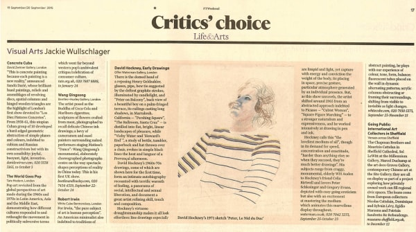 David Hockney, Early Drawings: Critic's Choice in the FT